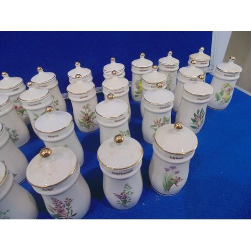 50 - Flower fairy spice jars...