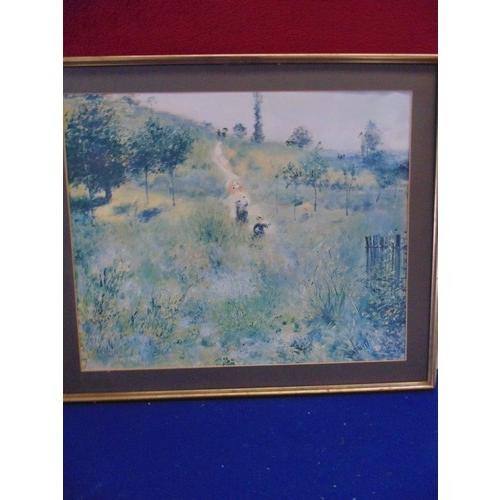 55 - Framed print of impressionistic landscape AF...