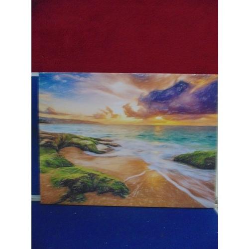 56 - Canvas print of sea scape...