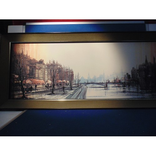 66 - Framed print of city scene....