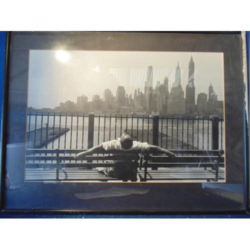 162 - Framed city print...