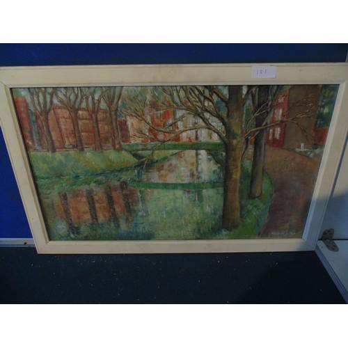 173 - Framed contemporary landscape....
