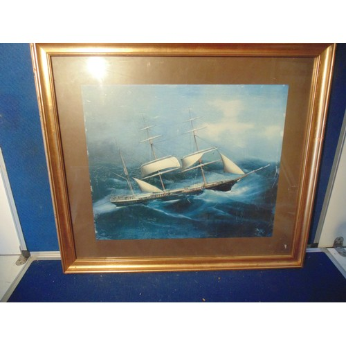 227 - Framed nautical print...