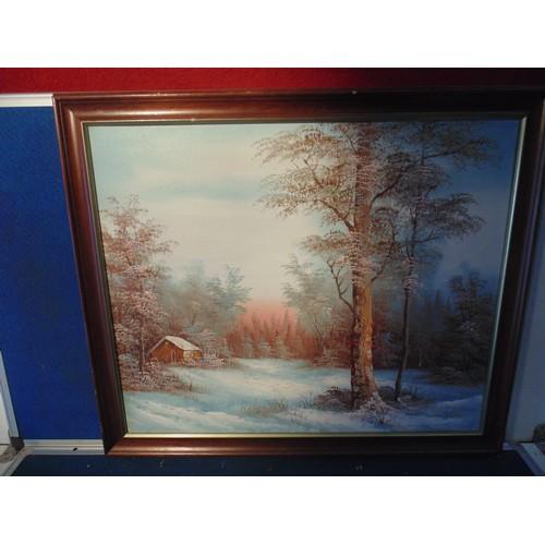 229 - Large acrylic landscape framed...