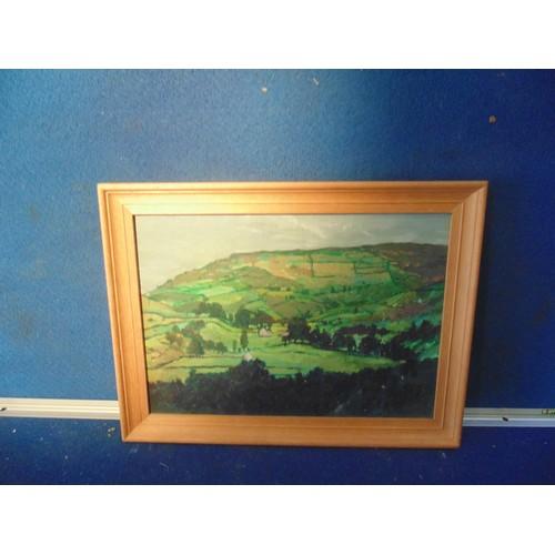 236 - Acrylic landscape on board frames...