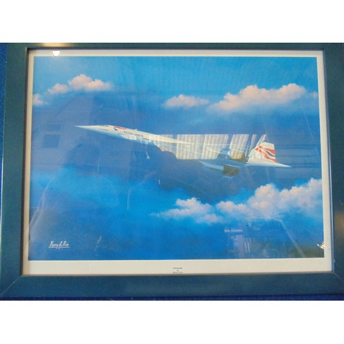 292 - Framed print of concord by Barry G Price...