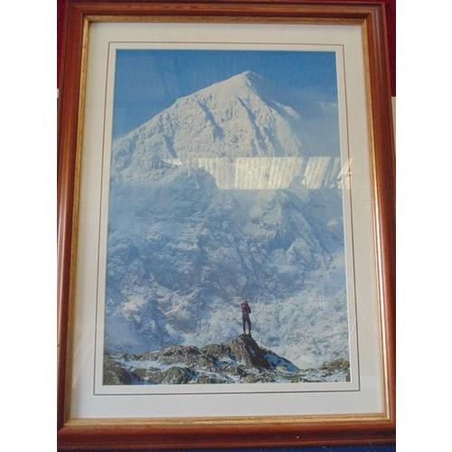 296 - Framed print of mountain explorer...