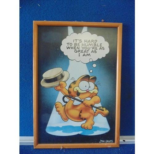 297 - Framed Garfield cartoon...