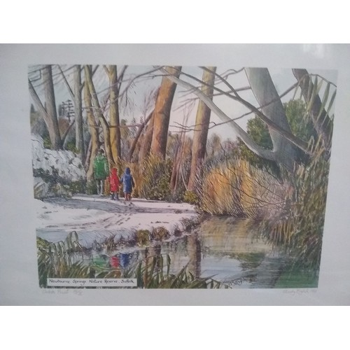 304 - Artist proof of new warm springs Suffolk by Andy English 1991...