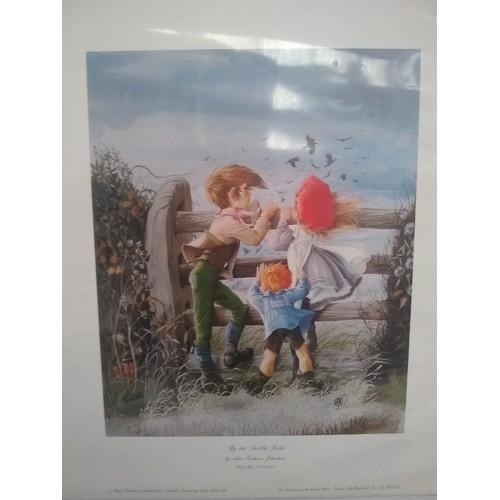 305 - Children's illustration print titled By Anne Graham Johnstone...