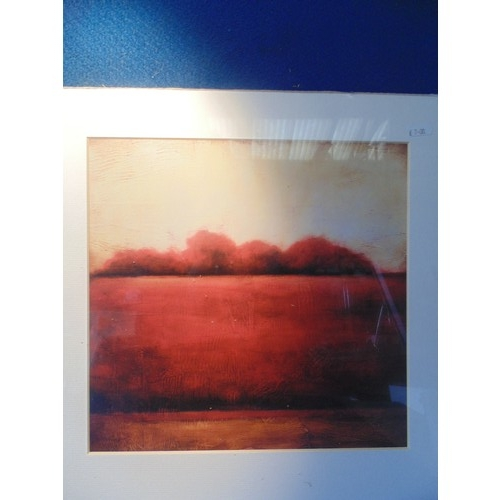 306 - Mounted contemparory landscape print...
