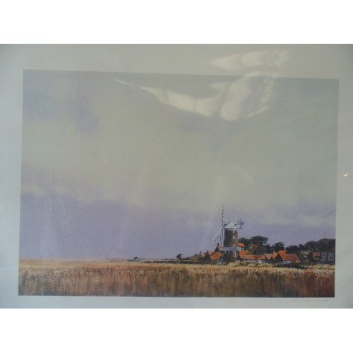 362 - Print of the clay mill by Micheal Saunders...