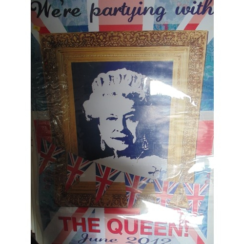 366 - We're partying with the queen poster...