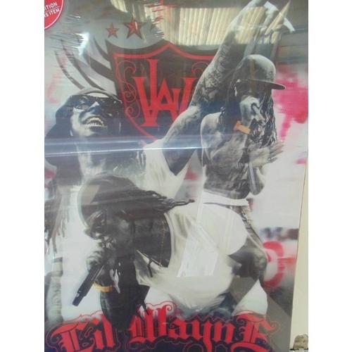 377 - 3D lil wayne poster...
