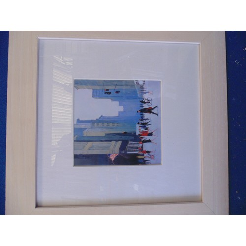 397 - Framed print of city scene...