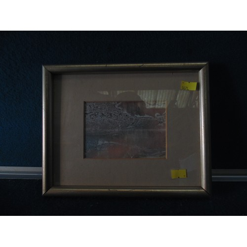 440 - Small abstract print framed...