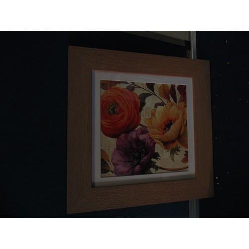 485 - Framed flower print...