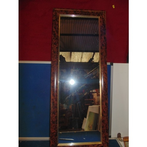 492 - Tortise shell rectangle mirror...