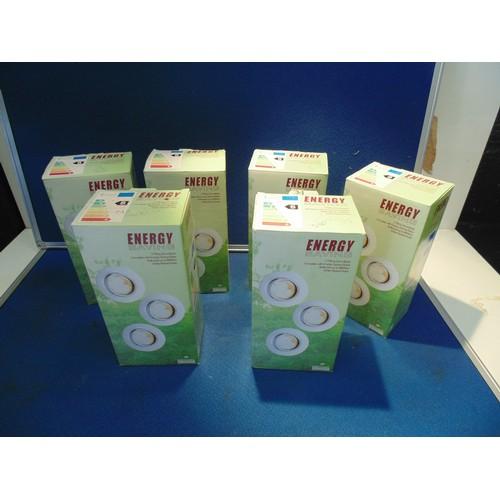 14 - 6 x Boxes of energy saving tilt down lights...