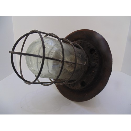 30 - Railway lamp light fitting made in England (circumference 2.5ft)...