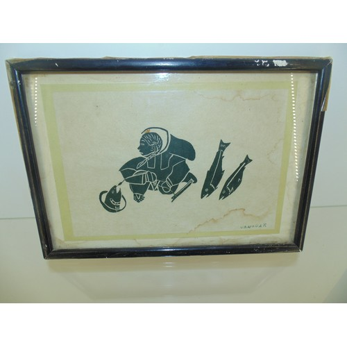1029 - Inuit art signed Nanogka...