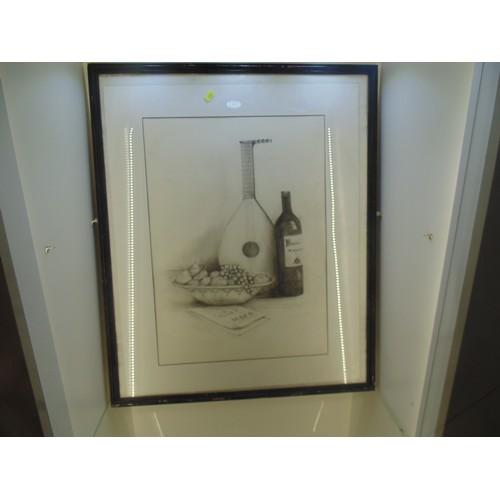 1037 - Original still life pencil drawing...