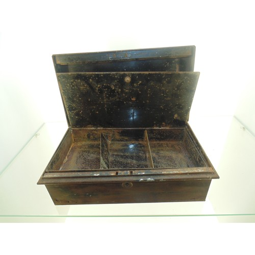 1049 - Antique cash box...