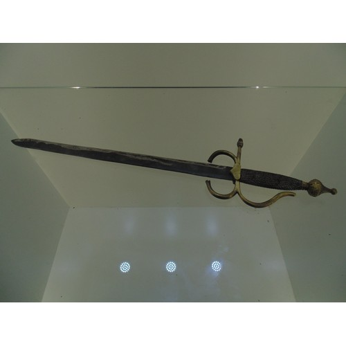 1055 - Sword with brass handle...