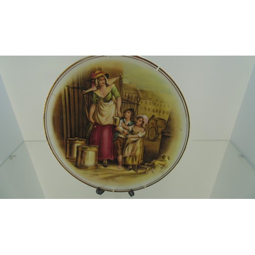 135 - English fine bone china plate with lady and children...