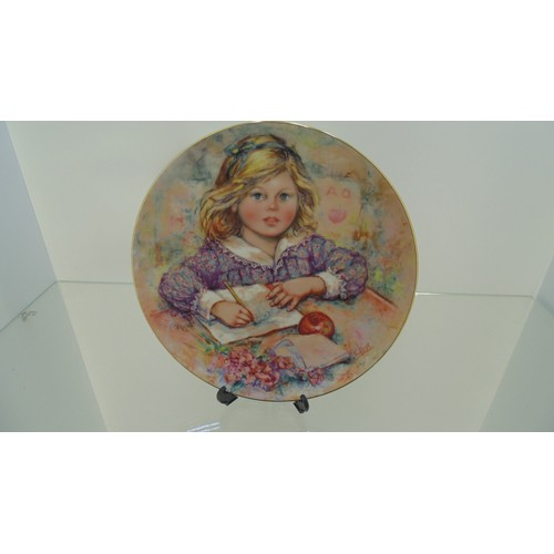 137 - The blossoming of suzanne wedgewood plate...