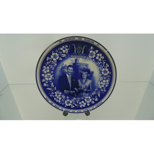 161 - Wedgewood plate to celebrate the marriage of the prince of wales...