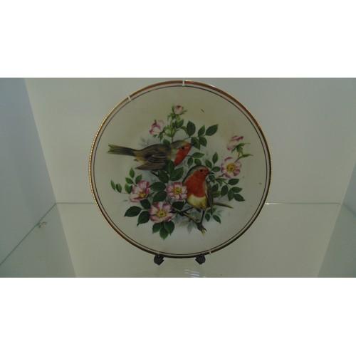 166 - Edwardian fine bone china Birds of the hedgerow...