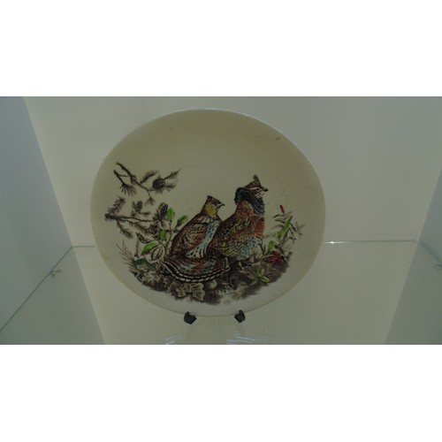 167 - Large decorative plate of game birds...