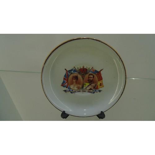 173 - Royal decorative saucer June 22nd 1911