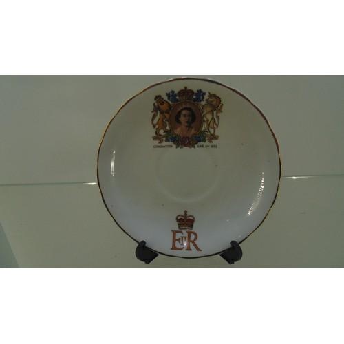 174 - Coronation saucer June 2nd 1953