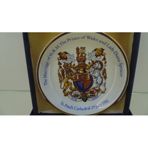 175 - Boxed royal saucer of the marriage of prince of wales