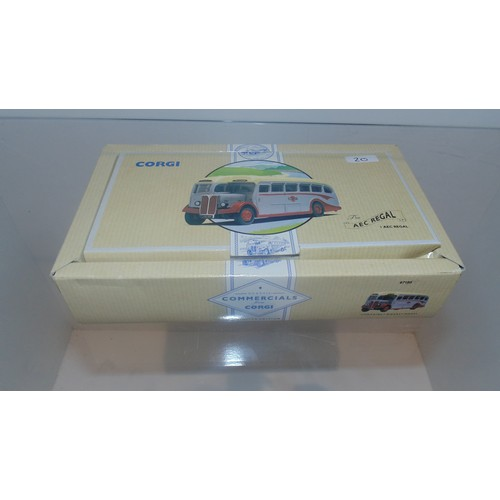 20 - Boxed Corgi The Ace Regal 1 Aec Regal Grey cars