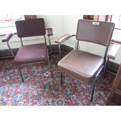 1 - 2 steel frame armchairs....