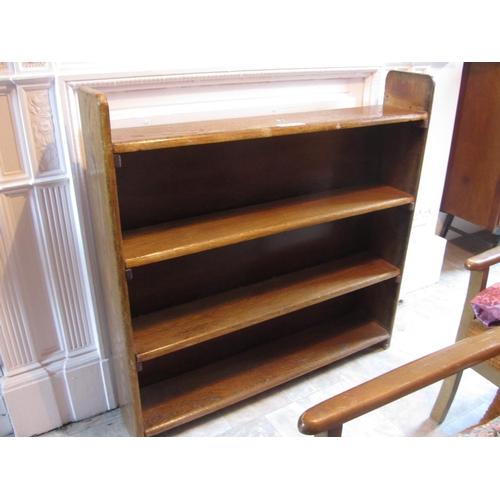 18 - Oak 5 tier bookshelves. H:100cm, W:100cm, D:20cm....