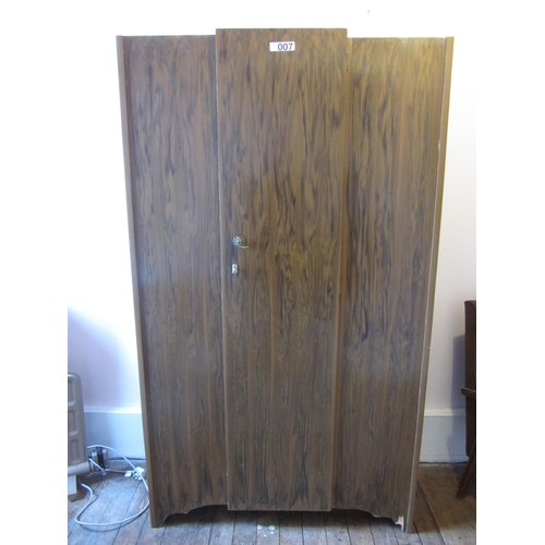 7 - Single door wardrobe. H:183cm, W:106cm, D:42cm....