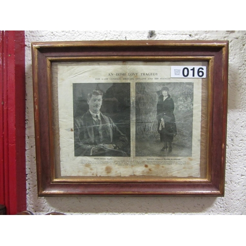 16 - Original paper cut of Michael Collins - An Irish Love Tragedy....
