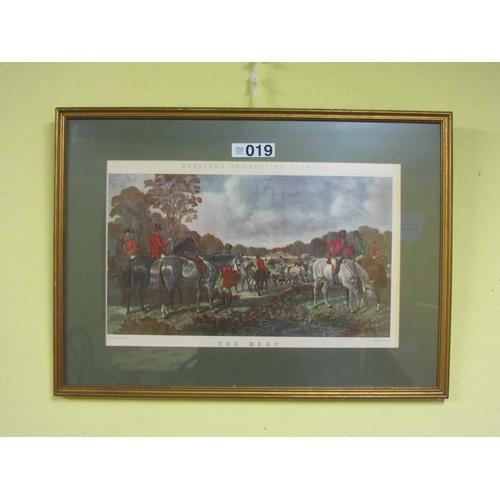 19 - Pair of coloured Herring engravings. Fox Hunting scenes....