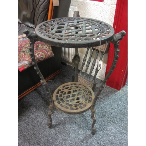 26 - Cast iron plant stand....