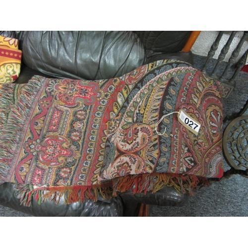 27 - Machine woven Paisley style shawl....