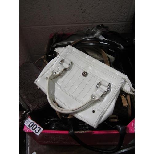 3 - Box of assorted ladies handbags....