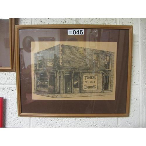 46 - Pencil drawing of James Toner Pub....