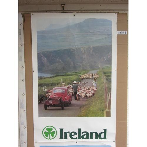 51 - Ireland Poster with Shamrock....