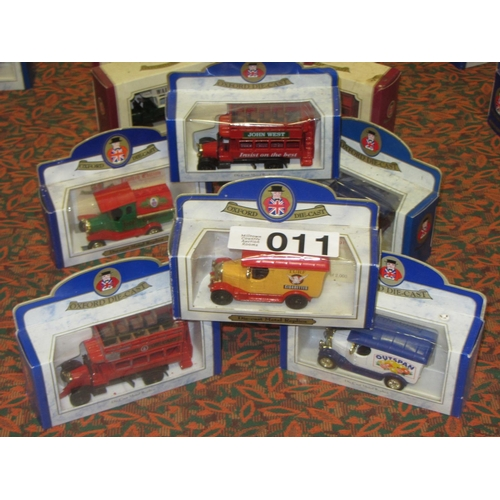 11 - 6 Oxford Die Cast model Trucks and Busses....