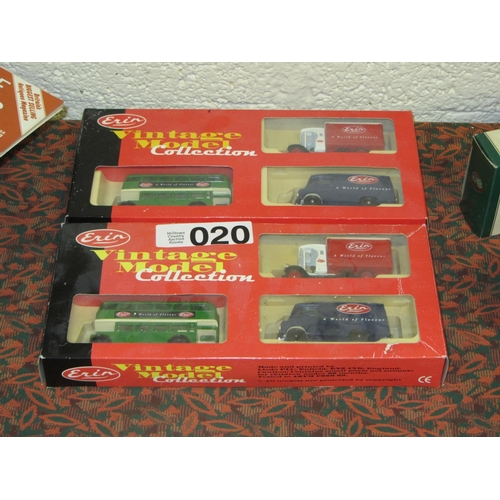 20 - 2 boxes of Erin Vintage Collection Buses and Trucks....