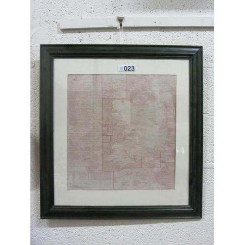 23 - Map of Ireland.- Tramways and Railways of Ireland....